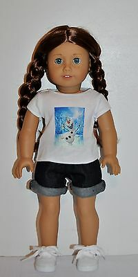 "AMERICAN MADE DOLL CLOTHES FOR 18 INCH GIRL DOLLS DRESS LOT ""FROZEN- OLAF"" SHORT"