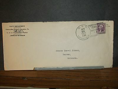 USS LITCHFIELD DD-336 Naval Cover 1937 HONOLULU, HAWAII
