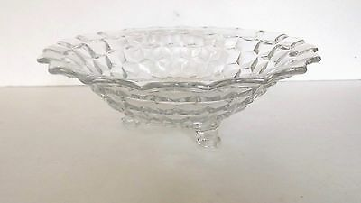 VTG FOSTORIA American Elegant Centerpiece Footed Bowel Cube Style