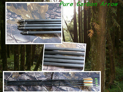 """6)30"""" pure carbon arrow, completed arrow 340 spine,Hunting & practice archery"""
