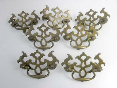 Antique Dresser Pulls Drawer Handles Set 7 Brass Vintage Cabinet Hardware Match