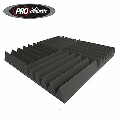 14x AFW100 Pro Acoustic Foam Wedge Tiles Professional Studio Sound Treatment