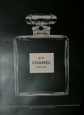 1974  CHANEL No.5, Print Ad.  Classic Bottle. . Vintage Chanel.    #4