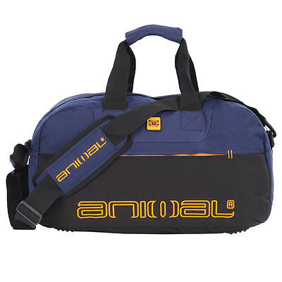 1 DAY AUCTION! Animal Mens Flakjack Weekend Duffle Sports Gym Travel Bag Blue