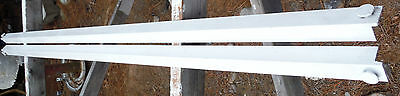 Pair of Button Type White Iron Bed Rails (BR444)