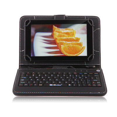 """IRULU Tablet PC eXpro X1c 7"""" Android 4.2 Quad Core Dual Cam 8GB Black w/Keyboard"""