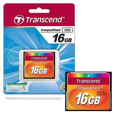 16GB Transcend Compact Flash (CF) Memory Card Fast 133x 16GB