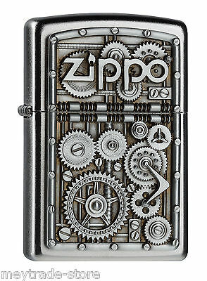 awesome ZIPPO Gear Wheels emblem lighter - rare and mint collectible item