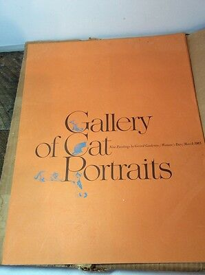 GERARD GOODENOW Gallery of Cat Portraits Woman's Day 1965 Portfolio Vintage