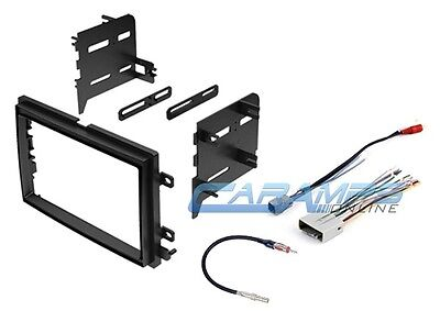 Double 2 Din Car Stereo Radio Dash Kit Trim W Wiring Harness & Antenna Adapter