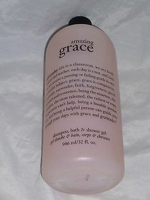 New! Philosophy Amazing Grace Shampoo, Shower Gel & Bubble Bath 32 fl. oz Bottle