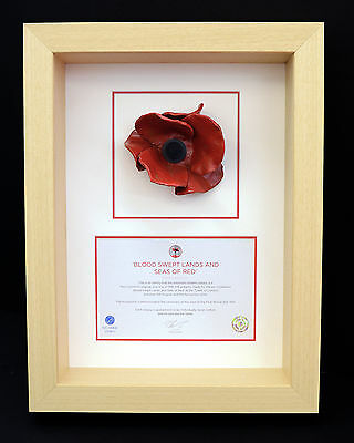 London Poppy Display Frame For Tower of London Ceramic Poppy in a Natural Colour