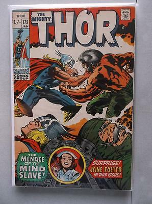 Mighty Thor Vol. 1 (1966-2011) #172 FN/VF UK Price Variant