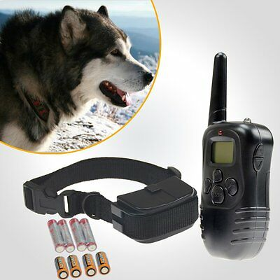 LCD 100LV 3MODE Electric SHOCK&VIBRA REMOTE PET DOG TRAINING COLLAR