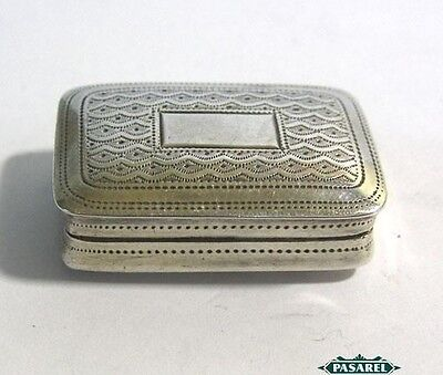 George IV Sterling Silver Vinaigrette Box By Joseph Willmore Birmingham 1824