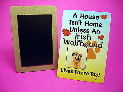 """Irish Wolfhound"" A House Isn't Home - Dog Fridge Magnet - Sku# 59"