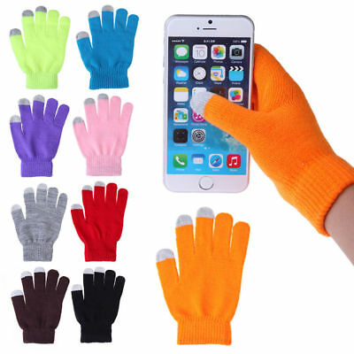 Winter Warm Screen Touch Gloves For Mobile Phone Tablet PC Fingerless Gloves