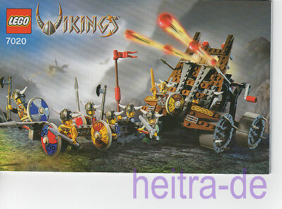 Lego Bauplan Bauanleitung ARMY OF VIKINGS WITH HEAVY ARTILLERY WAGON