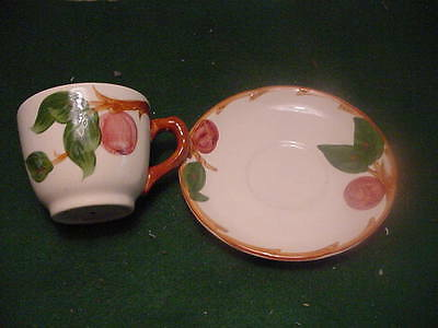"Franciscan Green  ""Apple""  Cup and Saucer"