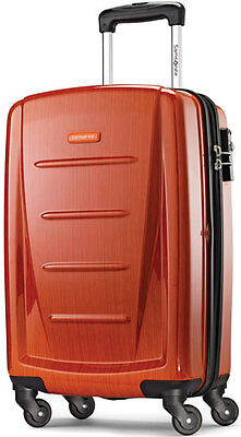 "Samsonite Winfield 2 Fashion 20"" 4 Wheeled Spinner Carry On Luggage - Orange"
