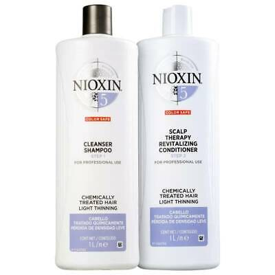 Nioxin System 5 Cleanser Shampoo and Scalp Revitaliser Conditioner Duo 1 Litre