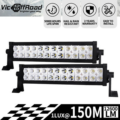 12inch 224W LED Light Bar Flood Spot Combo Work Driving Lamp Philips Lumileds