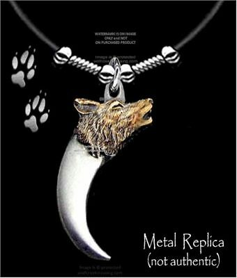 "WOLVES BEAR CLAW WOLF NECKLACE for MALE or FEMALE - 24"" LEATHER - FREE SHIP *"