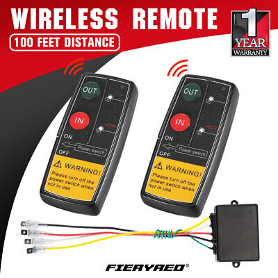 2x Wireless Winch Remote Control Switch Recovery Handset 4wd ATV Truck 50ft 12V