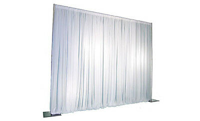 Wedding white back drop system, 4.2x4.2m including white drape