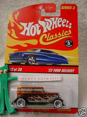 2007 Hot Wheels S3 Classics #12 '32 FORD DELIVERY 1932∞ORANGE∞Series 3