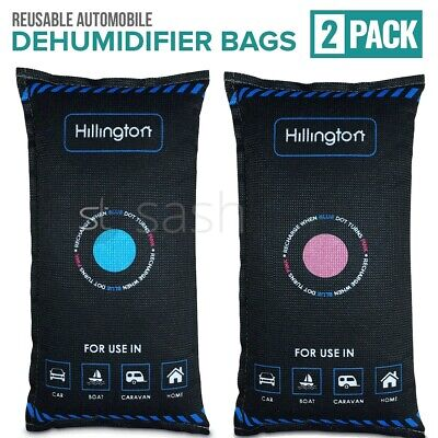2 X Large Dry Car Home Reusable Dehumidifier Bag Moisture Damp Absorber Pad Van