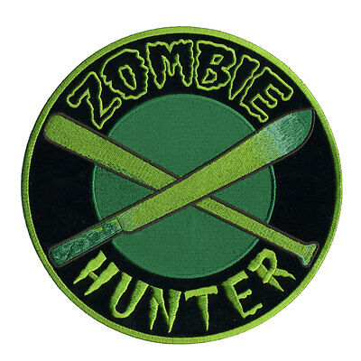 Zombie Hunter   EMROIDERED MILITARY UNIFORM VELCRO PATCH
