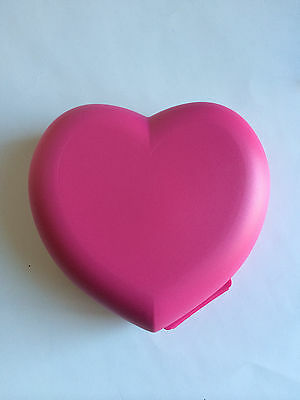 Tupperware Valentine  Heart Shaped Keeper Pink New
