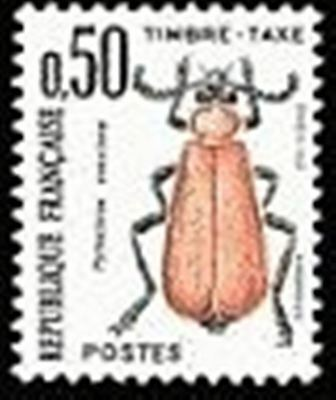 """FRANCE STAMP TIMBRE TAXE N° 105 """" INSECTES , COLEOPTERES 50c."""" NEUF xx TTB"""