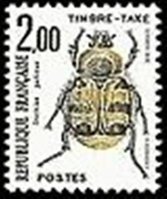 "FRANCE STAMP TIMBRE TAXE N° 107 "" INSECTES , COLEOPTERES 2F"" NEUF xx TTB"
