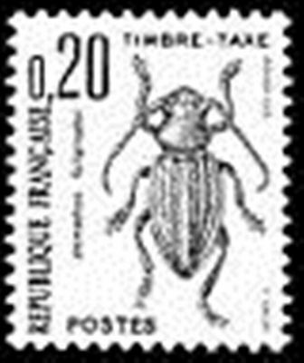 "FRANCE STAMP TIMBRE TAXE N° 104 "" INSECTES , COLEOPTERES 20c."" NEUF xx TTB"
