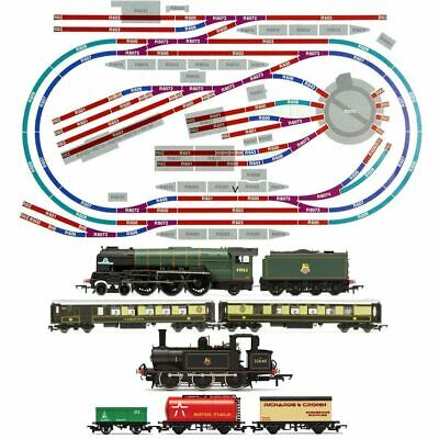 HORNBY Digital Train Set HL7 Layout Medium Double Oval with turntable & Train A