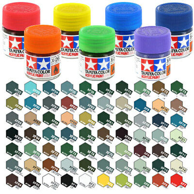 TAMIYA Acrylic Paint 10ml XF-78 to XF-86 Choose Colour - Model Paint Humbrol