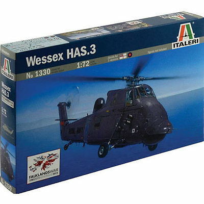ITALERI Wessex HAS.3 Falklands Helicopter 1330 1:72 Aircraft Model Kit