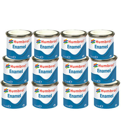 HUMBROL 12 x Enamel Model Paint 14ml - Choose your colours - Model Paints Tamiya