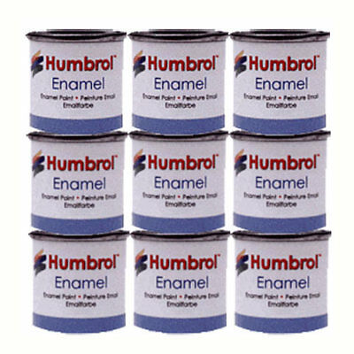 HUMBROL 9 x Enamel Model Paint 14ml - Choose your colours - Model Paints Tamiya