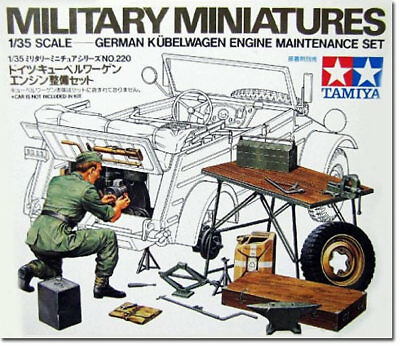 TAMIYA 35220 Kubelwagen Engine Maintenance Set 1:35 Military Model Kit