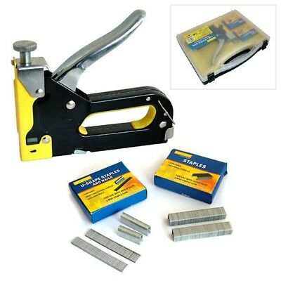 3-In-1 Metal Staple Gun Heavy Duty Stapler Upholstery Tacker With 2600 Staples