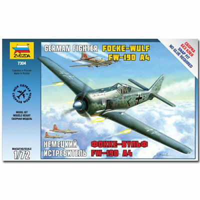 ZVEZDA 7304 Fockewulf Fw190 A4 Aircraft Model Kit 1:72