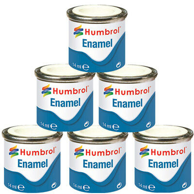 HUMBROL 6 x Enamel Model Paint 14ml - Choose your colours - Model Paints Tamiya