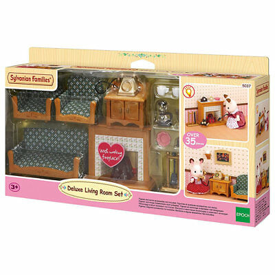 SYLVANIAN Families Deluxe Living Room Set Dolls Furniture 5037