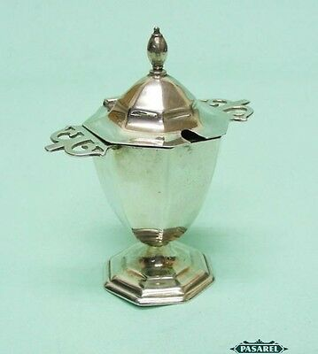 George V Sterling Silver Mustard Pot By Roberts & Belk Sheffield England 1912