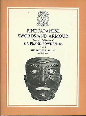 CHRISTIE'S Japanese Swords Armour Bowden Collection Auction Catalog 1982