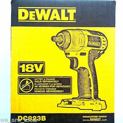 """NEW IN RETAIL BOX Dewalt DC823 18V Corldess Battery Impact Wrench 3/8"""" 18 Volt"""
