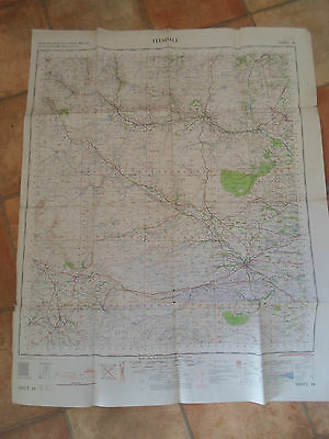 TEESDALE Large Map Sheet 84 Ordnance Survey - War Office+Air Ministry 1961
